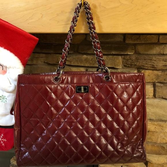 CHANEL Handbags - Authentic red Chanel tote handbag